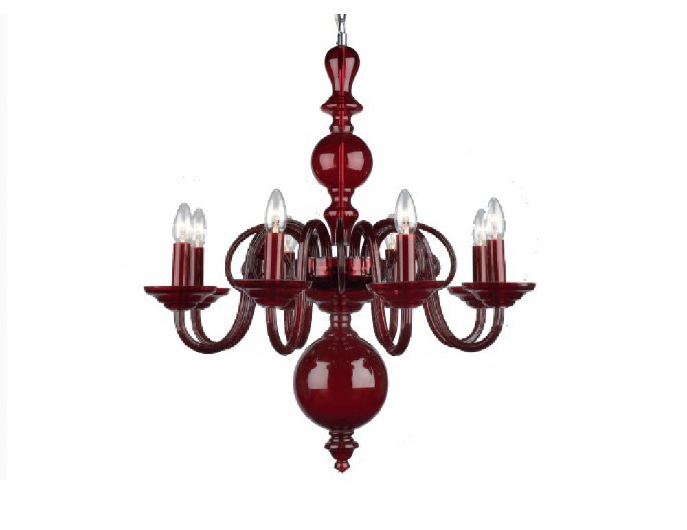 SALAS GLASS CHAND CARMINE RED