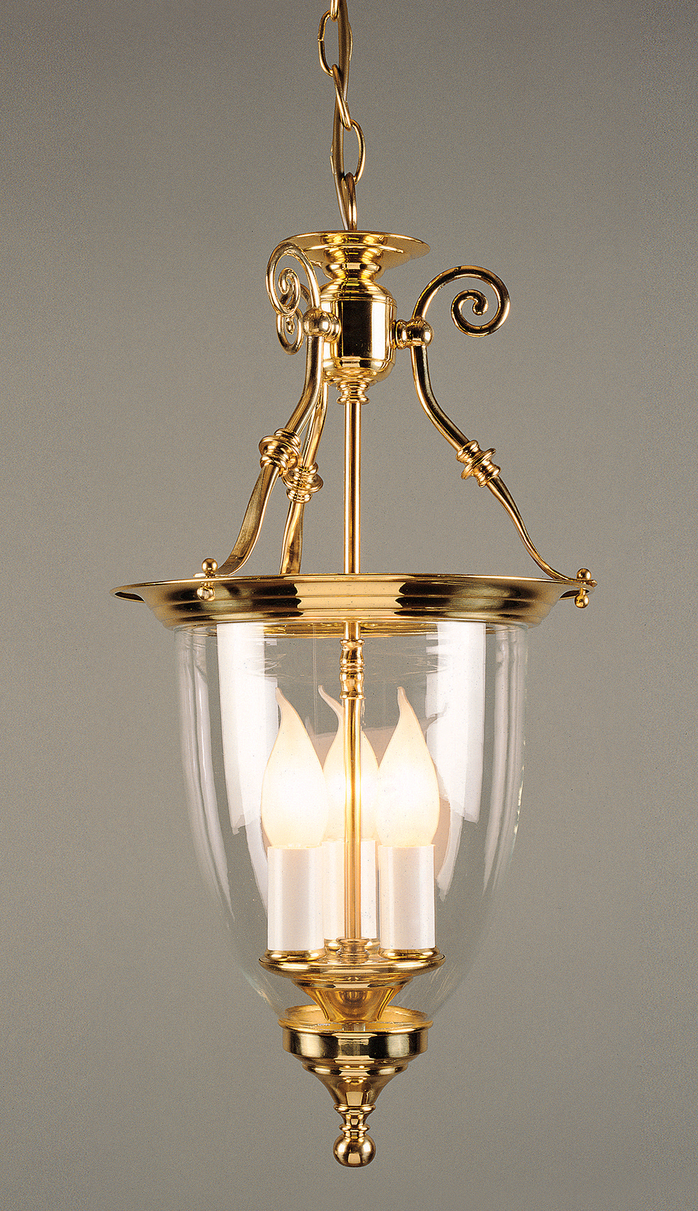 BILBAO POLISHED BRASS LANTERN
