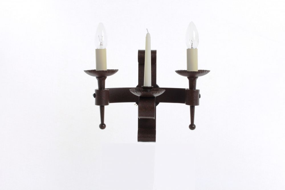 Refectory 2lt/1 candle Blk/gld