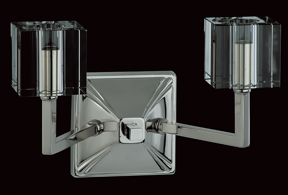 CUBE HALOGEN WALL LIGHT NICKEL